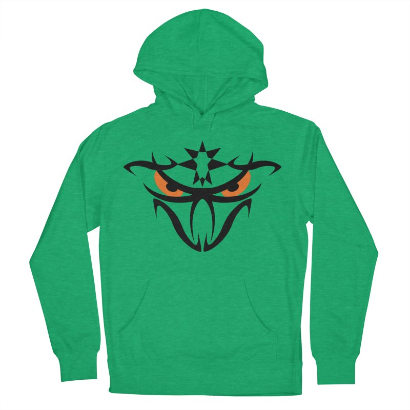 Toa ! The Tribal Bold and Star - Orange Eyes Women's French Terry Pullover Hoody by TribEyes by Oly