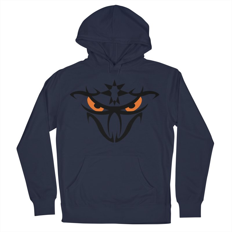 Toa ! The Tribal Bold and Star - Orange Eyes Men's French Terry Pullover Hoody by TribEyes by Oly