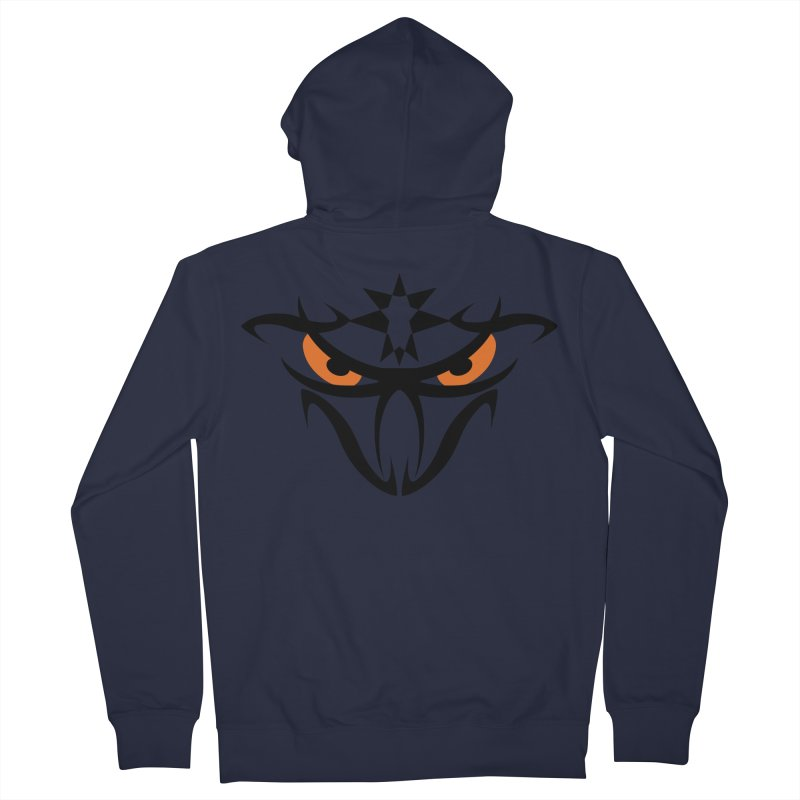 Toa ! The Tribal Bold and Star - Orange Eyes Women's French Terry Zip-Up Hoody by TribEyes by Oly
