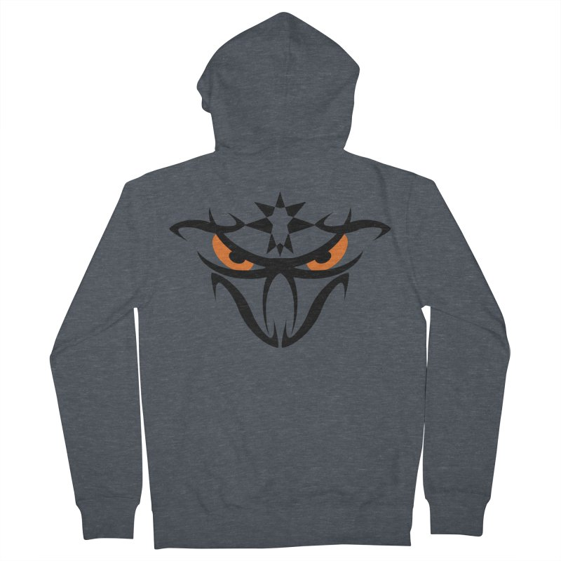 Toa ! The Tribal Bold and Star - Orange Eyes Men's French Terry Zip-Up Hoody by TribEyes by Oly