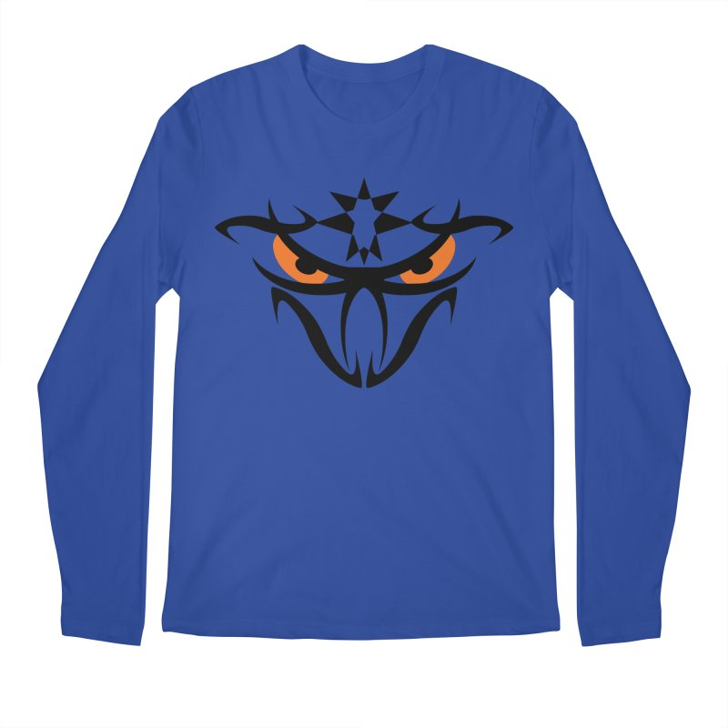 Toa ! The Tribal Bold and Star - Orange Eyes Men's Longsleeve T-Shirt by TribEyes by Oly