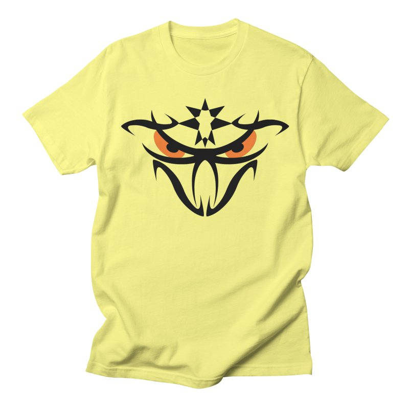 Toa ! The Tribal Bold and Star - Orange Eyes Men's Regular T-Shirt by TribEyes by Oly