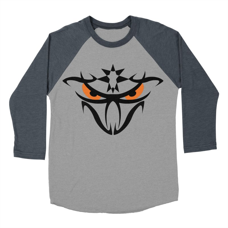 Toa ! The Tribal Bold and Star - Orange Eyes Women's Baseball Triblend Longsleeve T-Shirt by TribEyes by Oly