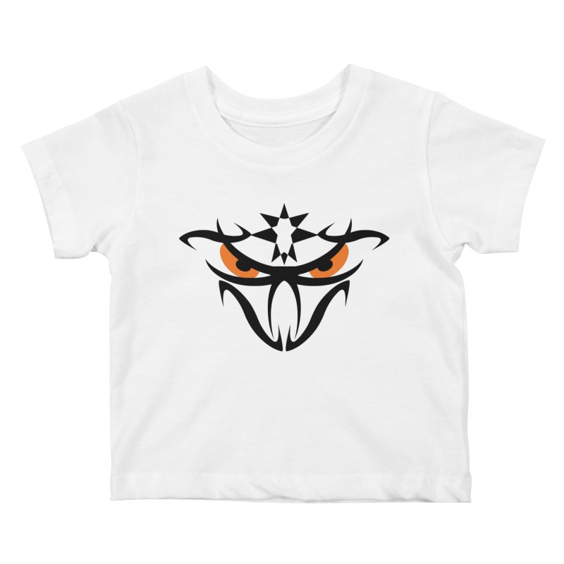 Toa ! The Tribal Bold and Star - Orange Eyes Kids Baby T-Shirt by TribEyes by Oly