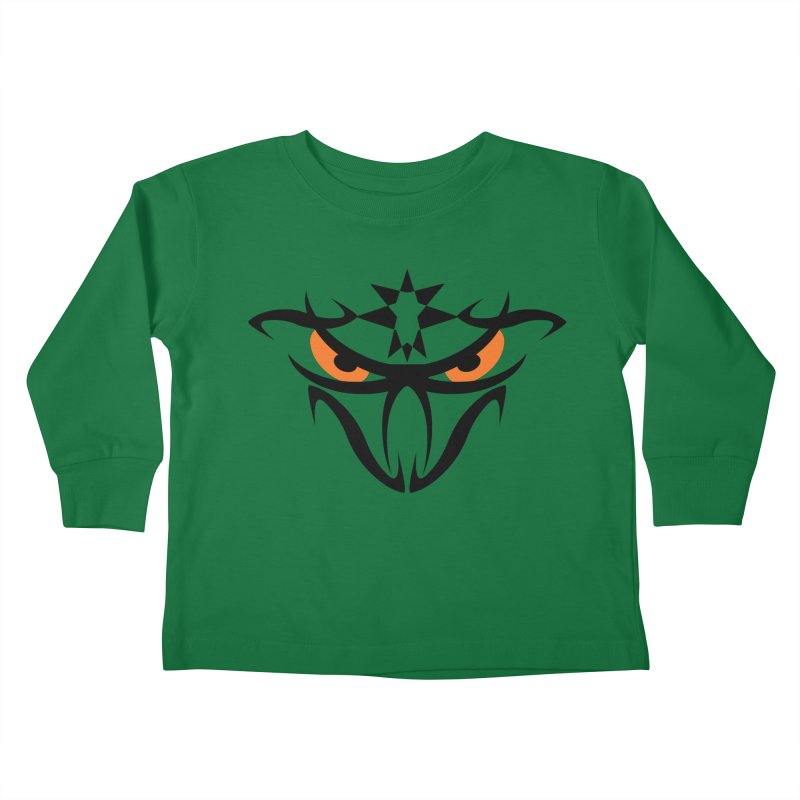 Toa ! The Tribal Bold and Star - Orange Eyes Kids Toddler Longsleeve T-Shirt by TribEyes by Oly