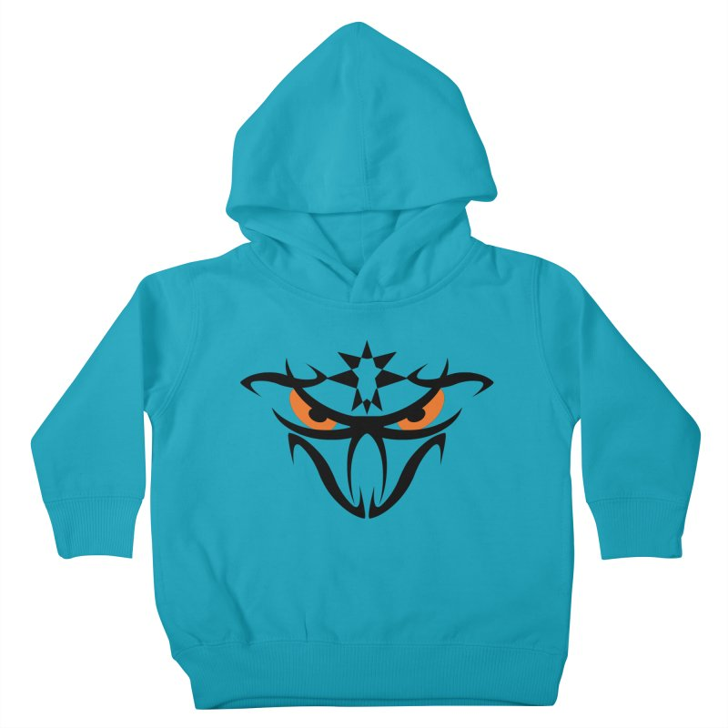 Toa ! The Tribal Bold and Star - Orange Eyes Kids Toddler Pullover Hoody by TribEyes by Oly
