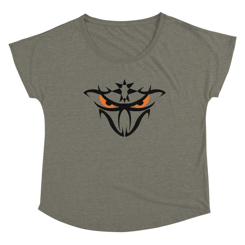 Toa ! The Tribal Bold and Star - Orange Eyes Women's Scoop Neck by TribEyes by Oly