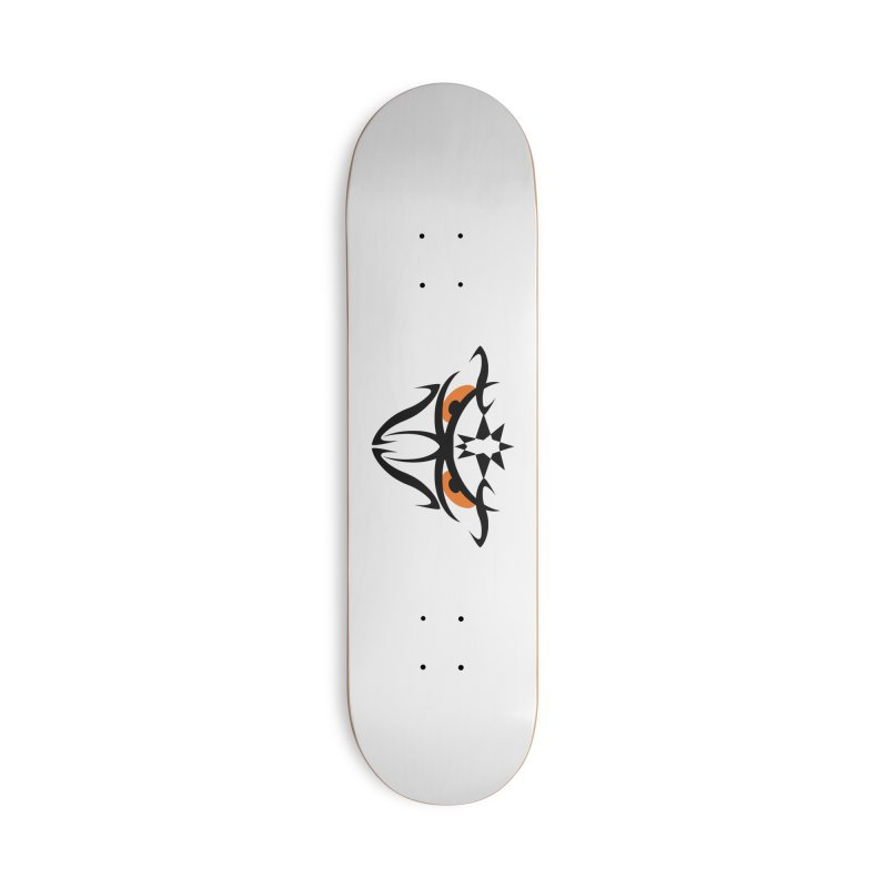Toa ! The Tribal Bold and Star - Orange Eyes Accessories Deck Only Skateboard by TribEyes by Oly