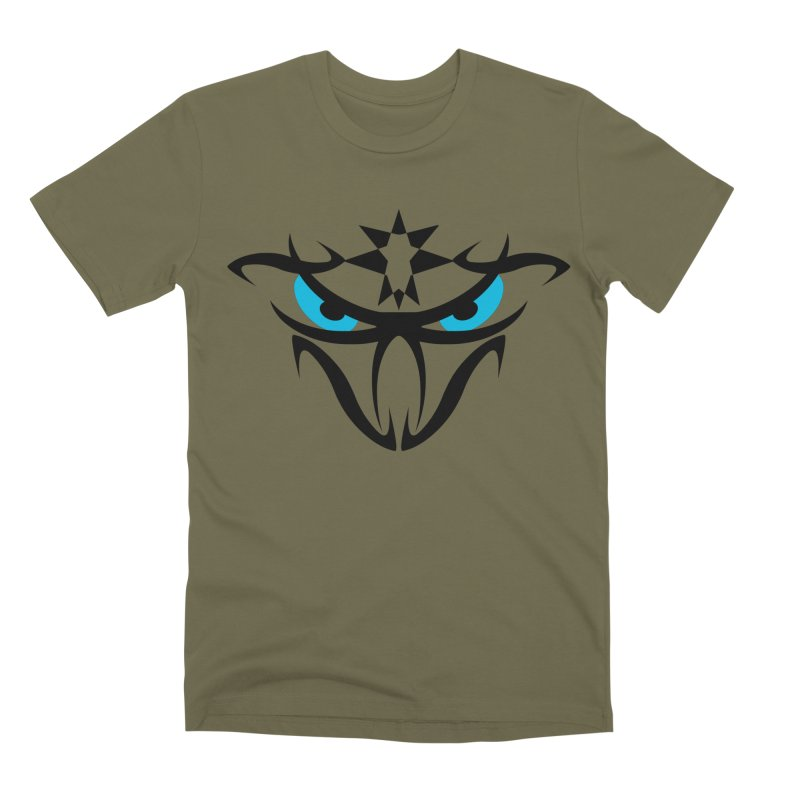 Toa ! The Tribal Bold and Star - Blue Eyes Men's Premium T-Shirt by TribEyes by Oly