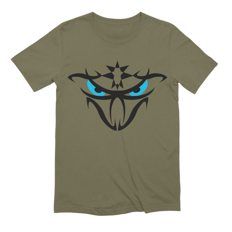 Toa ! The Tribal Bold and Star - Blue Eyes Men's Extra Soft T-Shirt by TribEyes by Oly