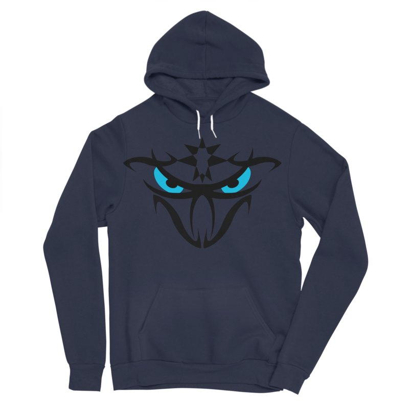 Toa ! The Tribal Bold and Star - Blue Eyes Men's Sponge Fleece Pullover Hoody by TribEyes by Oly