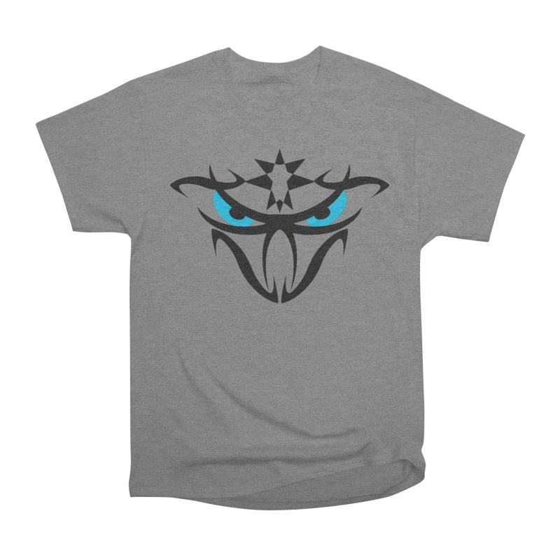 Toa ! The Tribal Bold and Star - Blue Eyes Men's Heavyweight T-Shirt by TribEyes by Oly