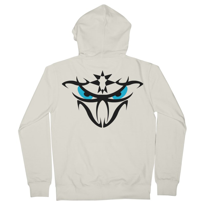 Toa ! The Tribal Bold and Star - Blue Eyes Men's Zip-Up Hoody by TribEyes by Oly