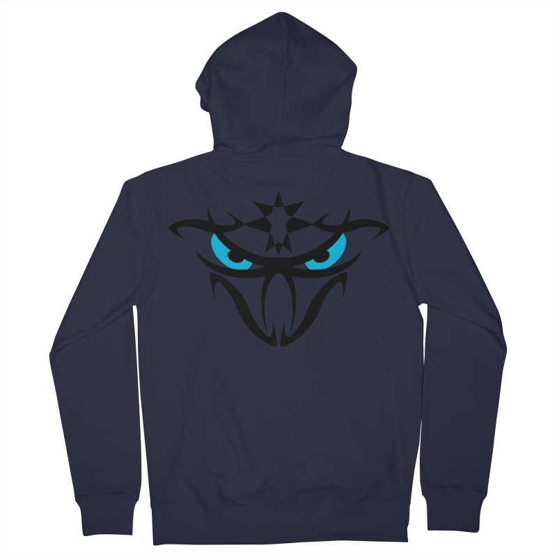 Toa ! The Tribal Bold and Star - Blue Eyes Men's French Terry Zip-Up Hoody by TribEyes by Oly