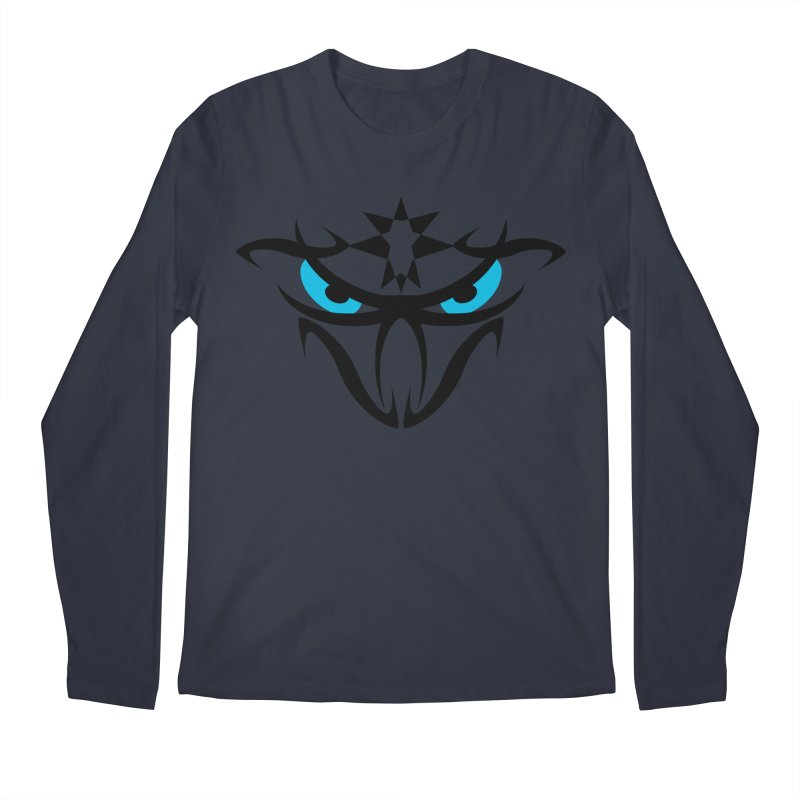 Toa ! The Tribal Bold and Star - Blue Eyes Men's Regular Longsleeve T-Shirt by TribEyes by Oly