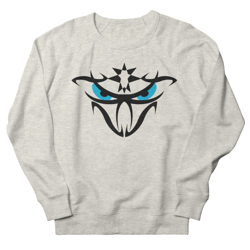 Toa ! The Tribal Bold and Star - Blue Eyes Men's French Terry Sweatshirt by TribEyes by Oly