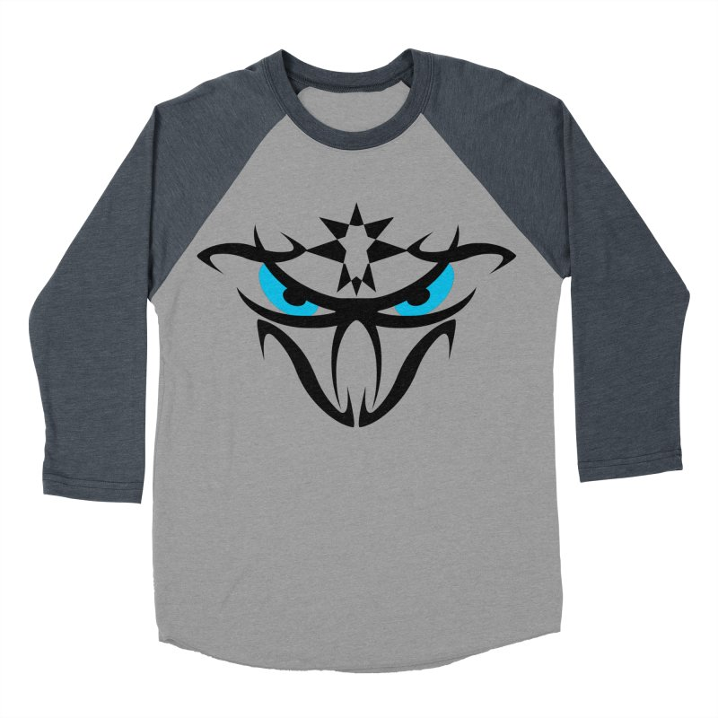 Toa ! The Tribal Bold and Star - Blue Eyes Men's Baseball Triblend Longsleeve T-Shirt by TribEyes by Oly