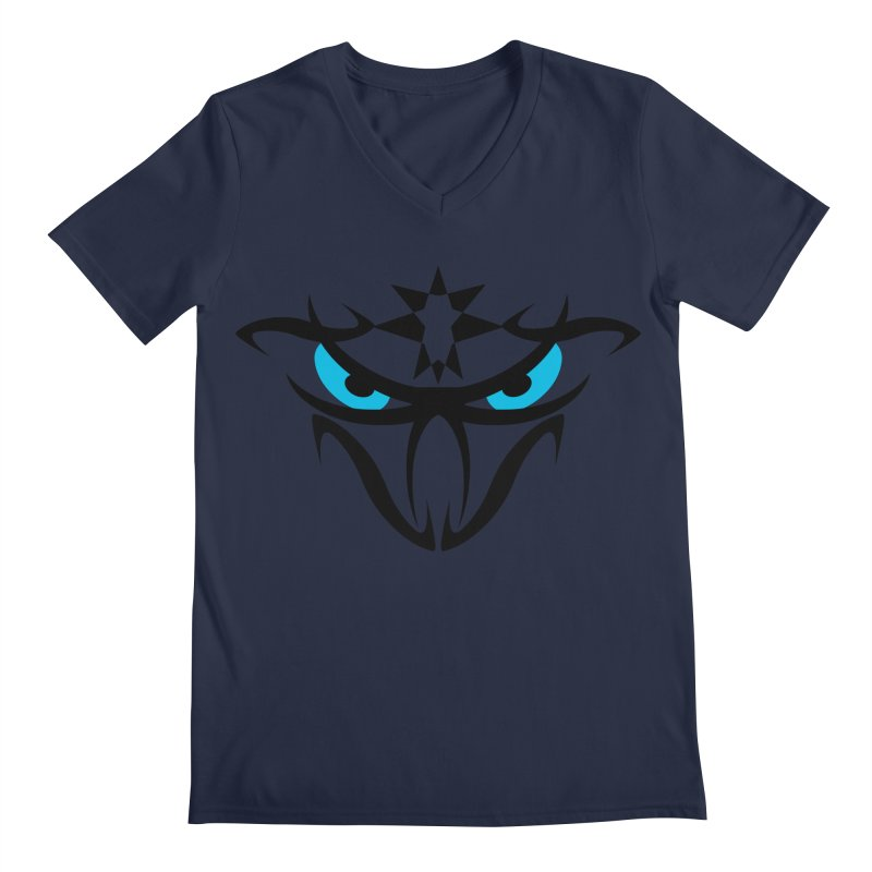 Toa ! The Tribal Bold and Star - Blue Eyes Men's Regular V-Neck by TribEyes by Oly