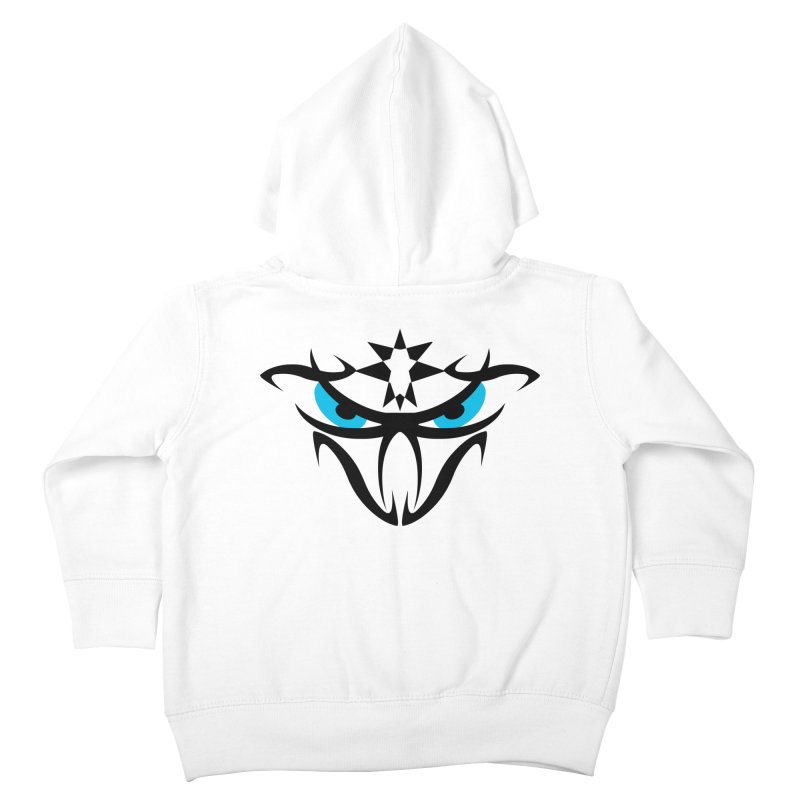 Toa ! The Tribal Bold and Star - Blue Eyes Kids Toddler Zip-Up Hoody by TribEyes by Oly