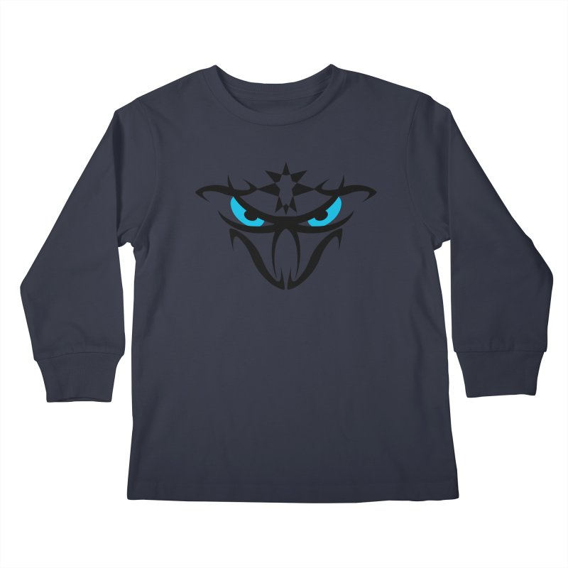 Toa ! The Tribal Bold and Star - Blue Eyes Kids Longsleeve T-Shirt by TribEyes by Oly