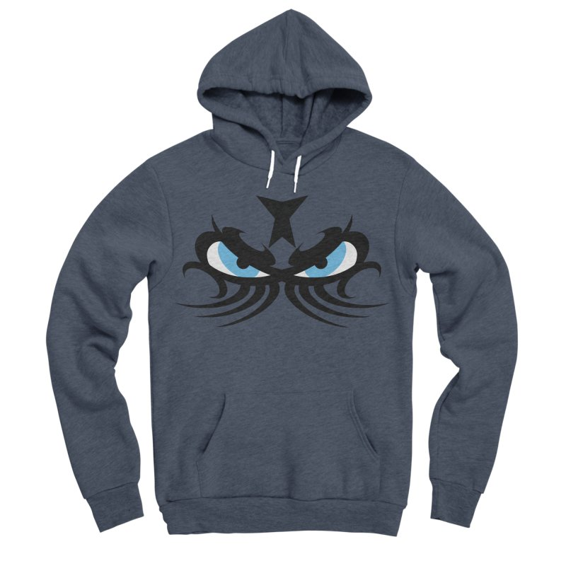 Ariki ! The Tribal Master - Blue Eyes Men's Sponge Fleece Pullover Hoody by TribEyes by Oly