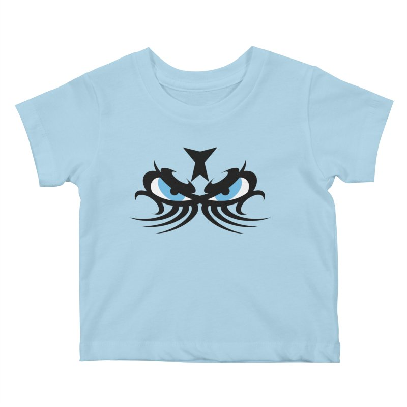 Ariki ! The Tribal Master - Blue Eyes Kids Baby T-Shirt by TribEyes by Oly