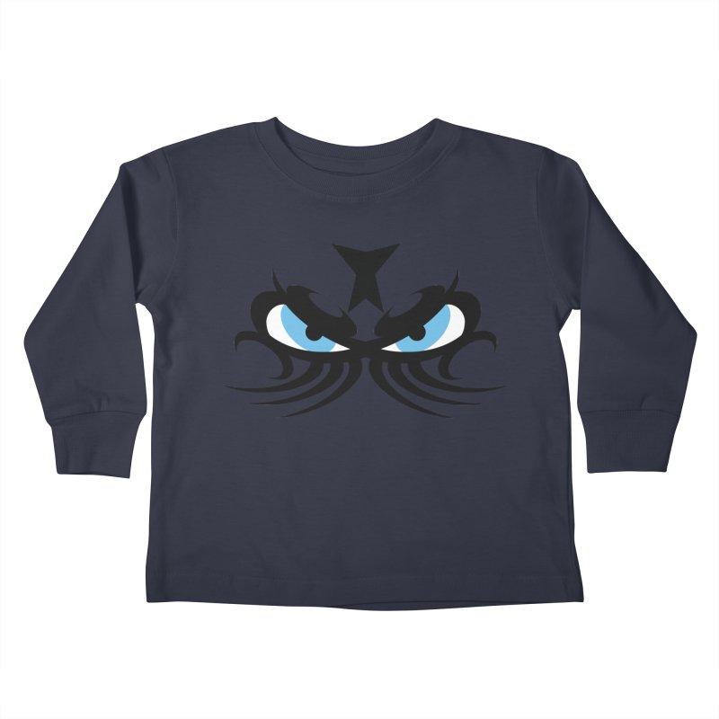 Ariki ! The Tribal Master - Blue Eyes Kids Toddler Longsleeve T-Shirt by TribEyes by Oly