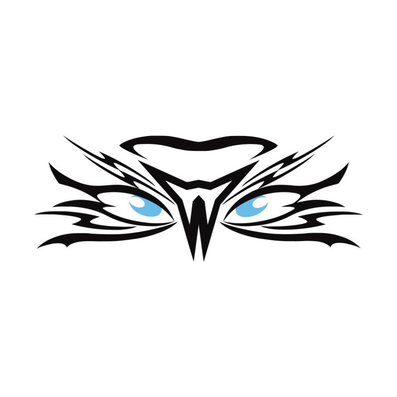 Kahu ! The Tribal Hawk with Piercing View - Blue Eyes Men's T-Shirt by TribEyes by Oly