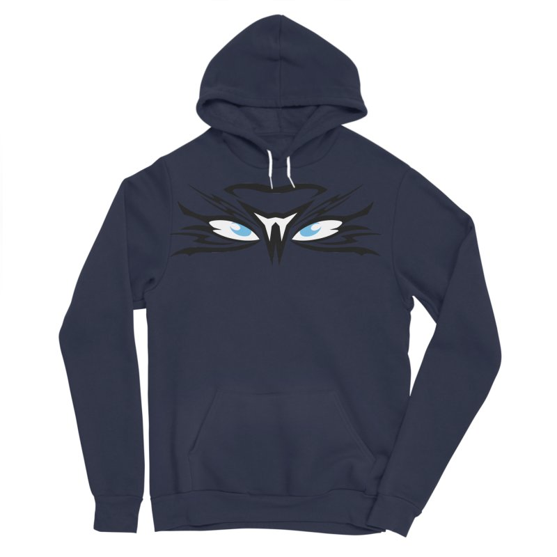 Kahu ! The Tribal Hawk with Piercing View - Blue Eyes Men's Sponge Fleece Pullover Hoody by TribEyes by Oly