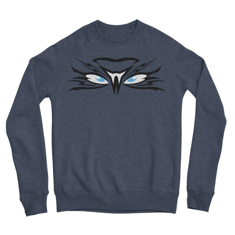 Kahu ! The Tribal Hawk with Piercing View - Blue Eyes Men's Sponge Fleece Sweatshirt by TribEyes by Oly