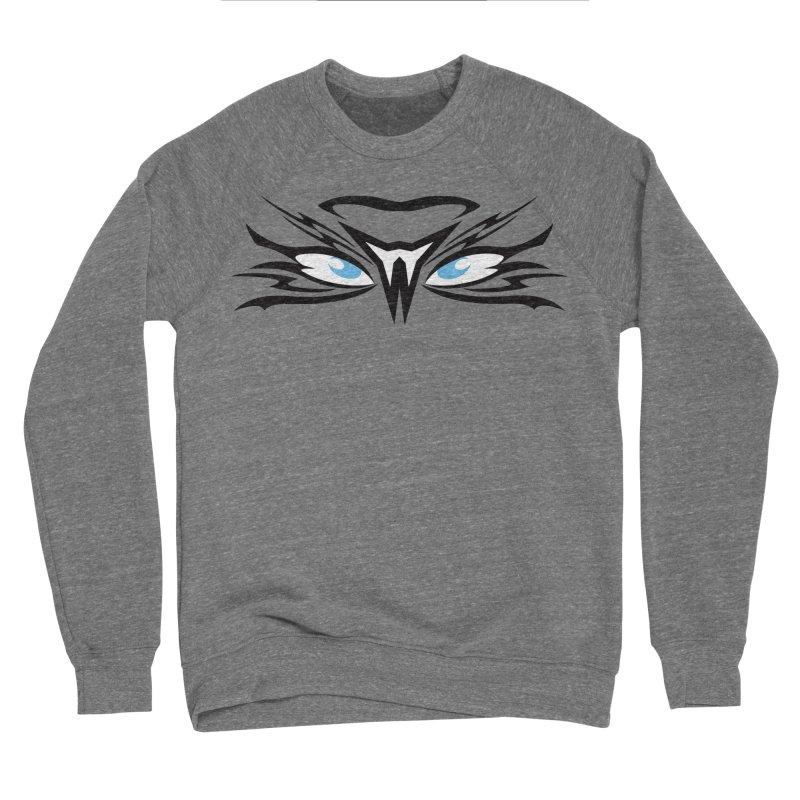 Kahu ! The Tribal Hawk with Piercing View - Blue Eyes Women's Sponge Fleece Sweatshirt by TribEyes by Oly