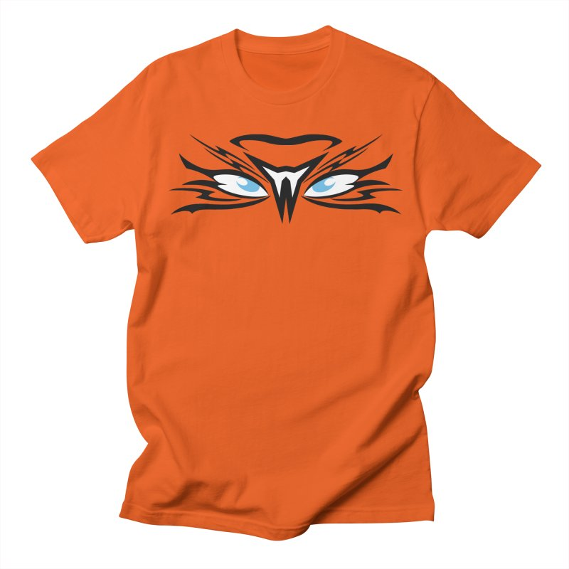 Kahu ! The Tribal Hawk with Piercing View - Blue Eyes Men's Regular T-Shirt by TribEyes by Oly