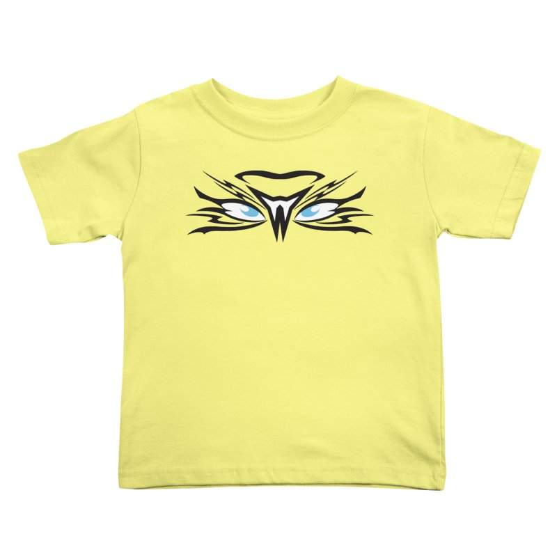 Kahu ! The Tribal Hawk with Piercing View - Blue Eyes Kids Toddler T-Shirt by TribEyes by Oly