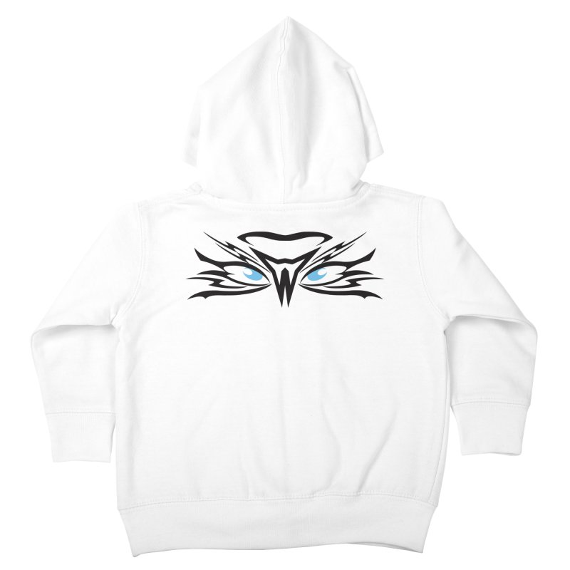 Kahu ! The Tribal Hawk with Piercing View - Blue Eyes Kids Toddler Zip-Up Hoody by TribEyes by Oly