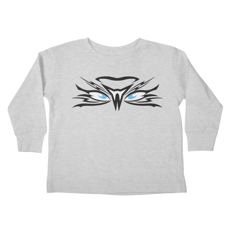 Kahu ! The Tribal Hawk with Piercing View - Blue Eyes Kids Toddler Longsleeve T-Shirt by TribEyes by Oly
