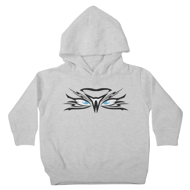 Kahu ! The Tribal Hawk with Piercing View - Blue Eyes Kids Toddler Pullover Hoody by TribEyes by Oly