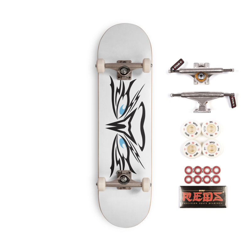 Kahu ! The Tribal Hawk with Piercing View - Blue Eyes Accessories Skateboard by TribEyes by Oly
