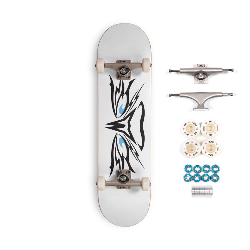 Kahu ! The Tribal Hawk with Piercing View - Blue Eyes Accessories Complete - Premium Skateboard by TribEyes by Oly