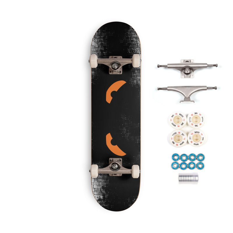 Fine Deck - Toa - Tribal Orange Eyes - Limited Edition Misty Accessories Skateboard by TribEyes by Oly