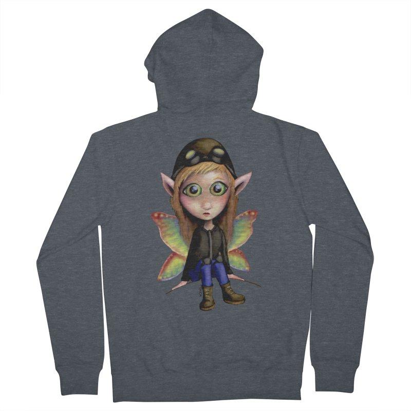 Fairy Aviator Women's Zip-Up Hoody by Trick's Place's Artist Shop