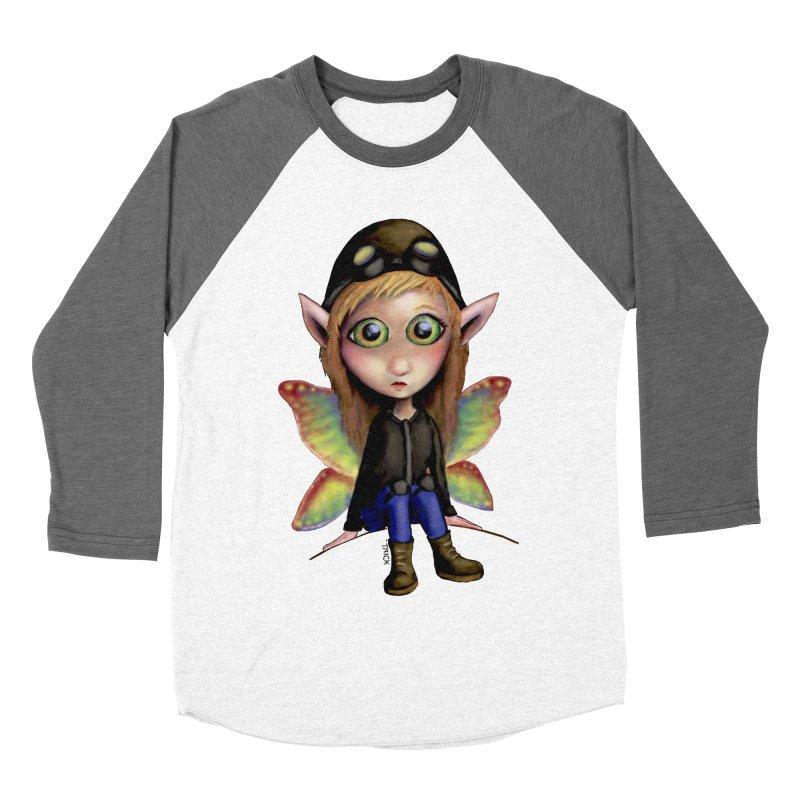 Fairy Aviator Women's Baseball Triblend T-Shirt by Trick's Place's Artist Shop