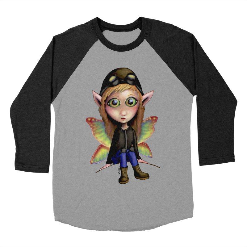 Fairy Aviator Men's Baseball Triblend T-Shirt by Trick's Place's Artist Shop