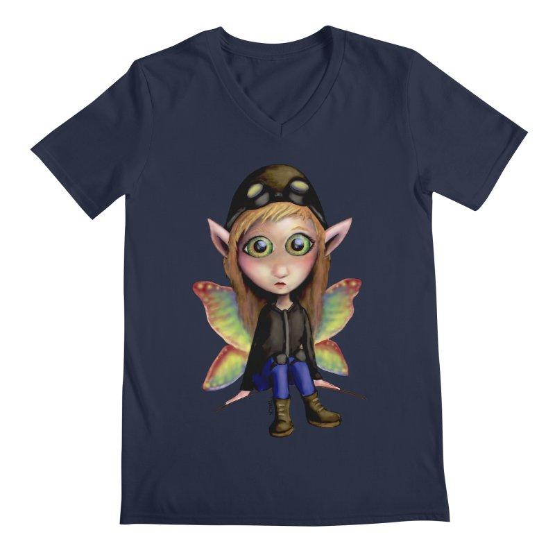 Fairy Aviator Men's V-Neck by Trick's Place's Artist Shop