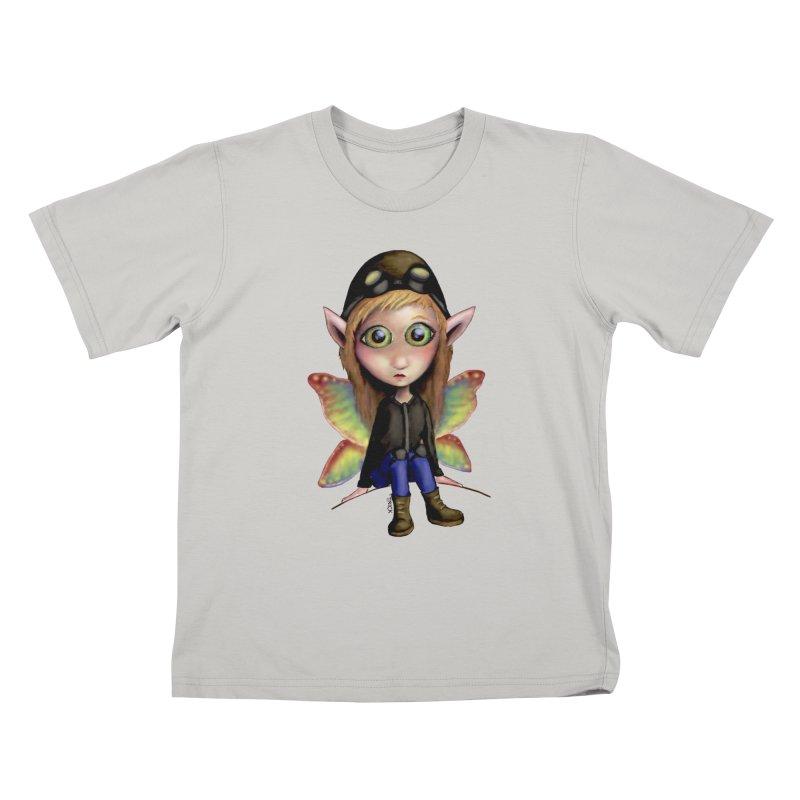 Fairy Aviator Kids T-shirt by Trick's Place's Artist Shop