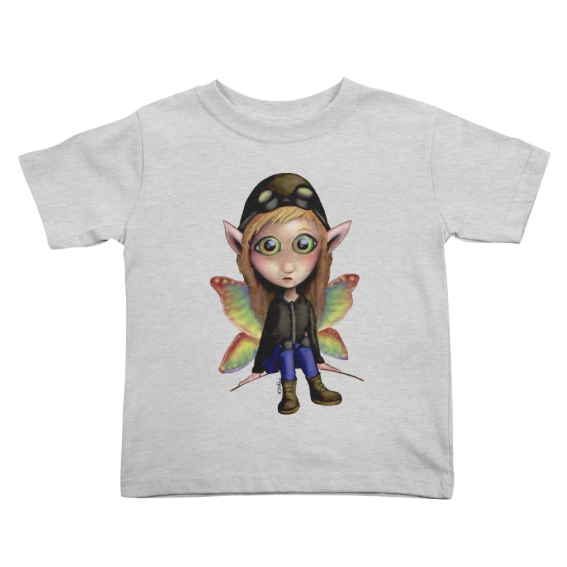 Fairy Aviator Kids Toddler T-Shirt by Trick's Place's Artist Shop