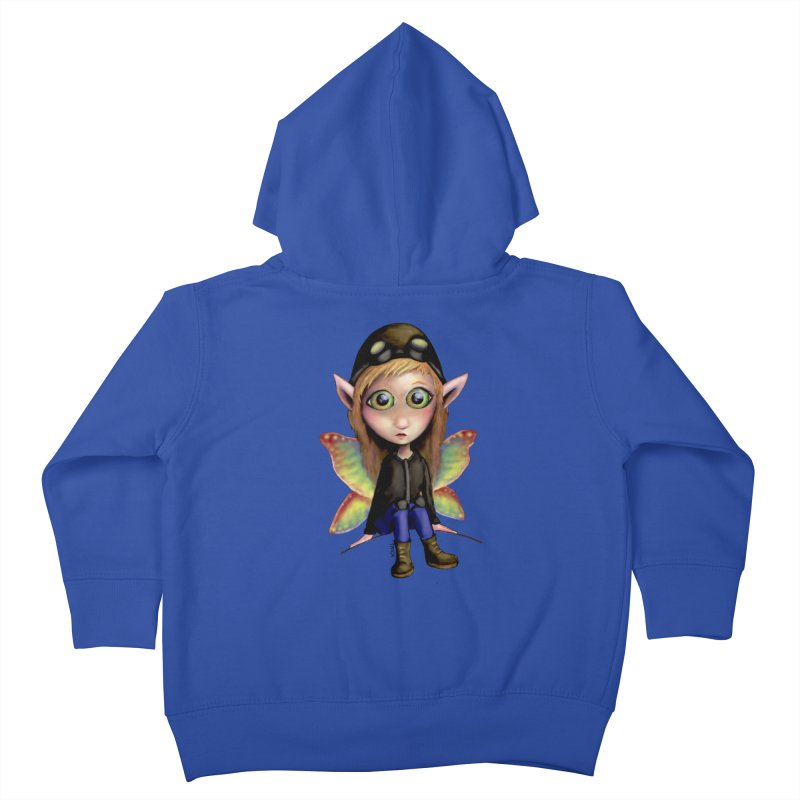 Fairy Aviator Kids Toddler Zip-Up Hoody by Trick's Place's Artist Shop