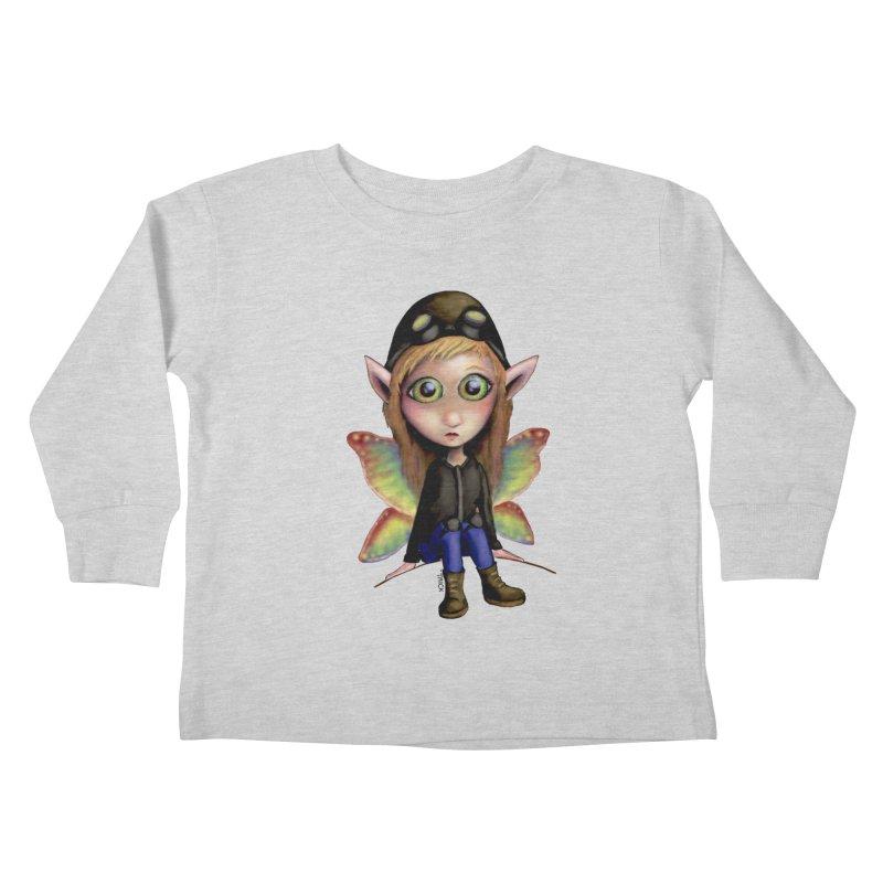 Fairy Aviator Kids Toddler Longsleeve T-Shirt by Trick's Place's Artist Shop
