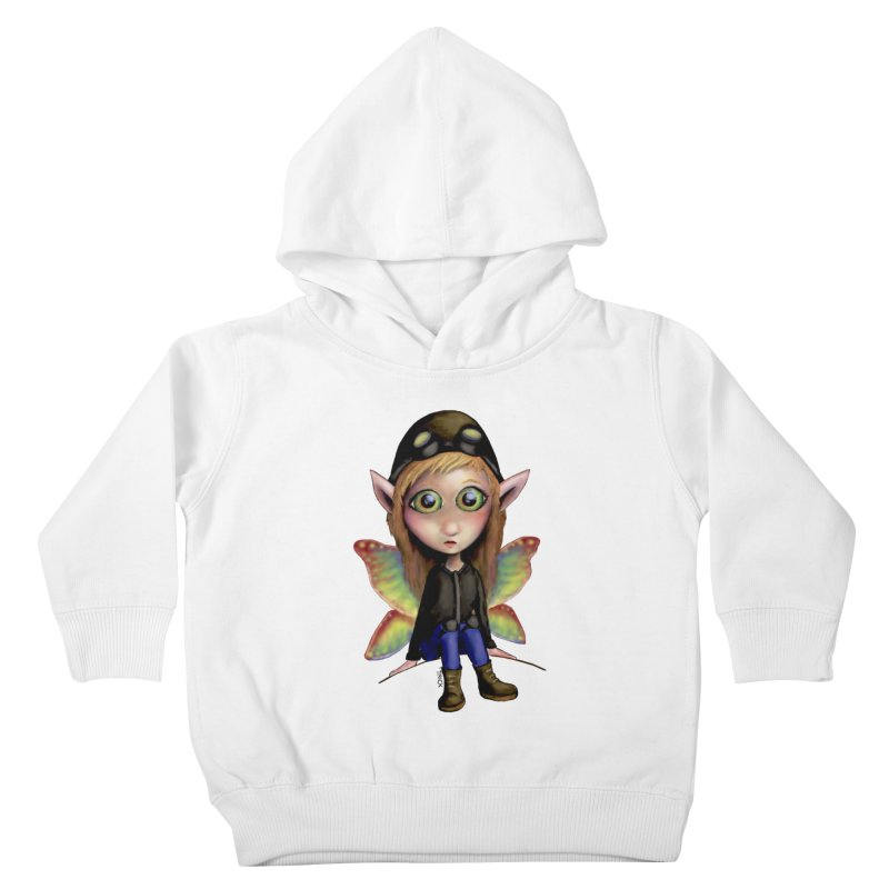 Fairy Aviator Kids Toddler Pullover Hoody by Trick's Place's Artist Shop