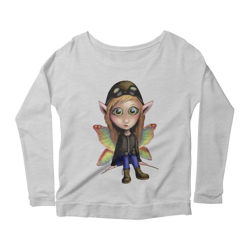 Fairy Aviator Women's Longsleeve Scoopneck  by Trick's Place's Artist Shop