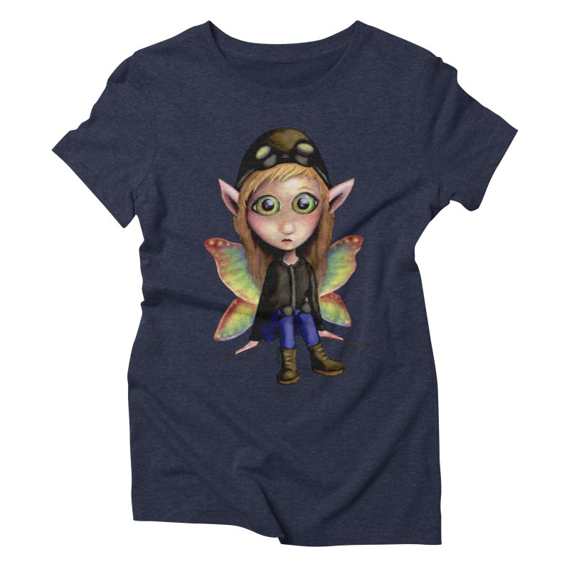 Fairy Aviator Women's Triblend T-shirt by Trick's Place's Artist Shop